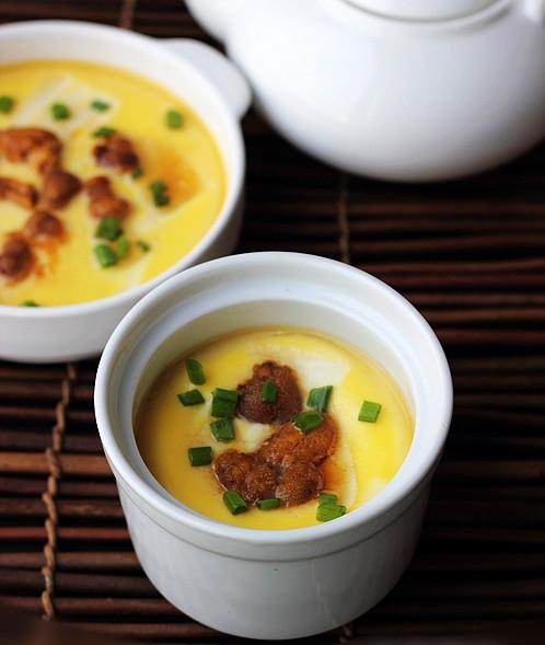 海胆豆腐蒸蛋