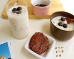 蓝莓奶香麦片粥