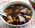 花生芋头红豆糖水