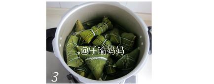 可爱藕节粽的包法