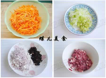 胡萝卜羊肉包子的做法