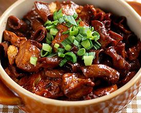 小肠豆腐煲