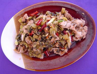 腌菜炒肉的效果_腌菜炒肉做好吃_家常菜塞达尔食谱做法图片