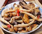 海蛎子炒什锦蘑菇