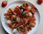 番茄蛤蜊烩饭