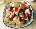 咸蒜苔烧豆腐
