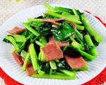 火腿肠炒白菜苔