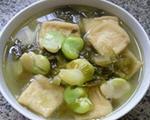 小油方酸菜蚕豆汤