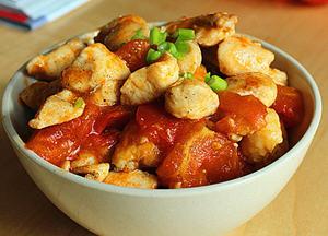 茄汁鸡丁的家常做法 茄汁鸡丁怎么做好吃 儿童食谱