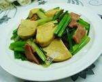 培根小素鸡炒芹菜