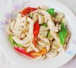 八爪鱼炒蘑菇
