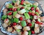 花生芹菜炒粽子
