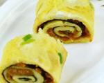 海苔肉松鸡蛋卷饼