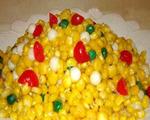 松仁香肠玉米粒