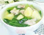 青菜土豆排骨汤