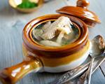菌菇火腿乳鸽汤