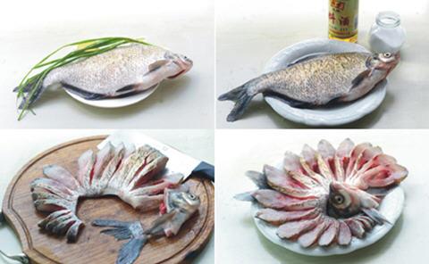 鱼怎么改刀好看图解_糖醋浇汁鱼的做法_糖醋浇汁鱼如何做_糖醋浇