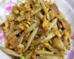 蒜香藕尖炒肉
