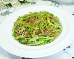 虾皮粉丝炒芹菜