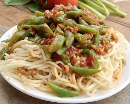四季豆要不酱做法做好吃面条的肉末详解_过年咸肉要腌图文图片