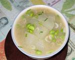 虾皮毛豆冬瓜汤