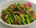 木耳蒜苔炒瘦肉