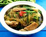 苔菜五花肉炖粉条
