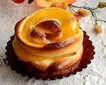 黄桃玫瑰花小面包
