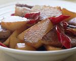 白萝卜烧豆干