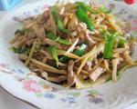 酸笋丝炒瘦肉