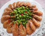 青豆焖大虾