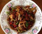 茭白辣椒炒肉片