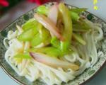 芹菜洋葱拌面