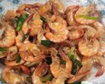 香葱炒大虾
