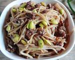 豆芽牛肉炒米线