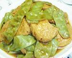 扁豆烧小素鸡