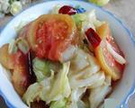 番茄炒手撕包菜
