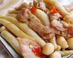瘦肉炒海鲜菇