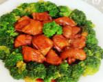 西兰花豉油鸡