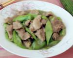 里脊肉炒丝瓜