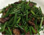 韭菜苔炒猪心