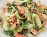 青菜炒河虾