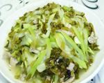 咸菜里脊肉炒夜开花