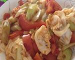 番茄西芹炒包菜