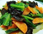 木耳油麦菜炒胡萝卜