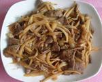 茭白丝炒猪肝