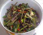 小炒红菜苔