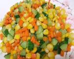炒玉米胡萝卜青瓜粒