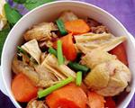 胡萝卜腐竹炖鸡