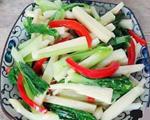 小白菜炒茭白